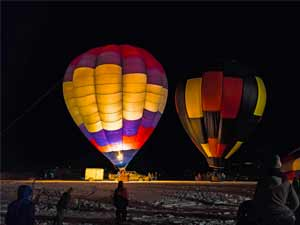 local events is a time to check out the local community. balloon glow photo by Vermont Artistry