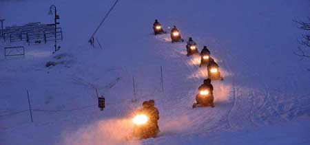 Snowmobile Evening Tour